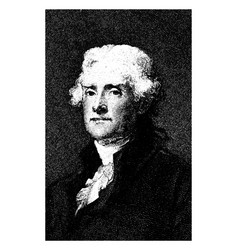 Thomas jefferson vintage vector