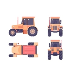 Tractor number one vector image