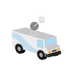 Truck news antenna icon design vector