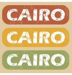 Vintage cairo stamp set vector