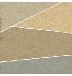 vintage handwritings on torn papers scraps vector image vector image