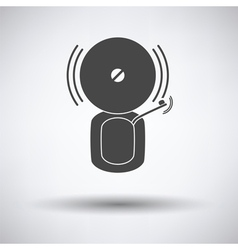 Fire alarm icon vector