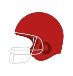helmet american football icon vector image