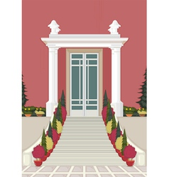 Entrance of the house vector