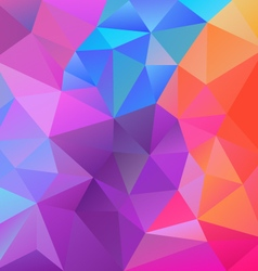 Spring vibrant pastel colors polygon triangular vector