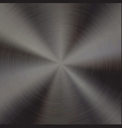 black metal technology background vector image