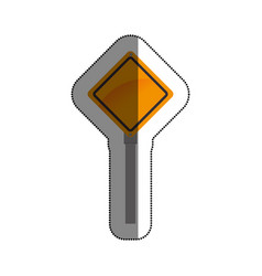 Road traffic signal icon vector