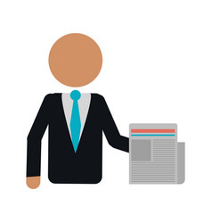 Business man document work office vector