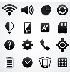 Phone setting icons vector