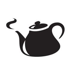 Icon black kettle vector