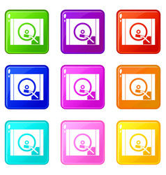 Turntable icons 9 set vector