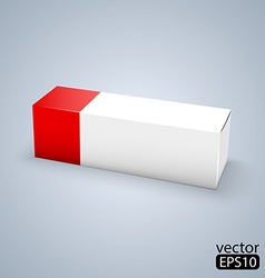 Package white box design vector
