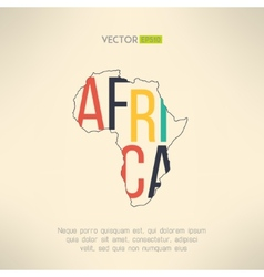 Africa continent outline with text inside vector image