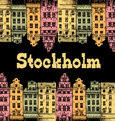 Image of a fragment of the city on a colored vector