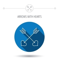 Love arrows icon amour equipment sign vector
