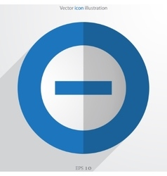 Minus web flat icon vector