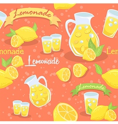 Lemonade seamless pattern orange vector