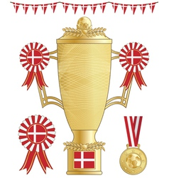 Denmark football trophy vector