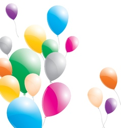 Balloons balloons on a white background vector