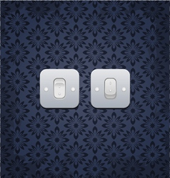 Web light on off switch vector