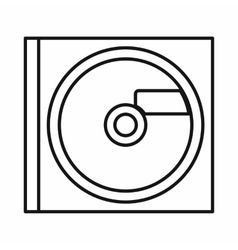 Cd icon outline style vector