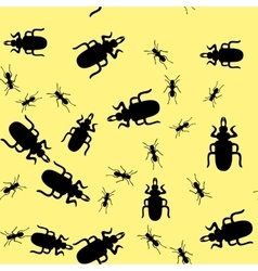 Beetle insect seamless pattern 665 vector