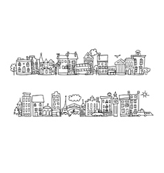 European city street sketch for your design vector