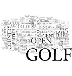 A history of golf text word cloud concept vector