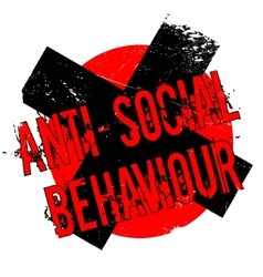 Anti-social behaviour rubber stamp vector