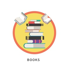 Books step education infographics vector image