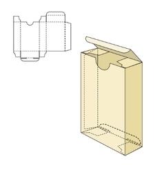 Box die line tamplate vector