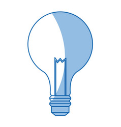 Bulb light electric innovation science shadow vector