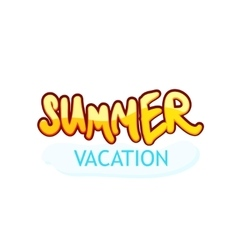 Caption summer vacation vector