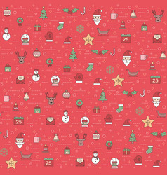 Christmas and happy new year pattern winter vector