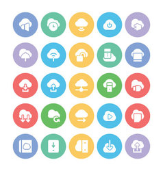 Cloud computing icons 4 vector