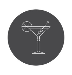 Cocktail glass icon outline vector