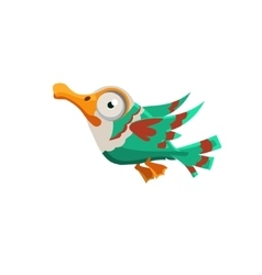 Crazy Colorful Duck vector image