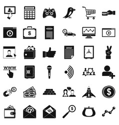 Digital contract icons set simple style vector