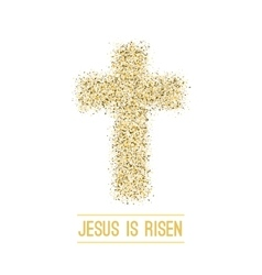 Easter background He is risen Gold vector image
