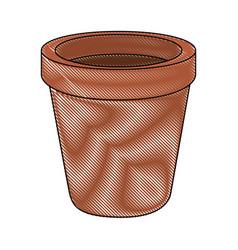 Empty plant pot vector