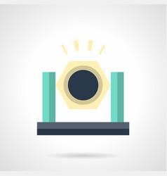 Festival spotlight flat color icon vector