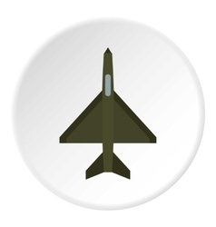 Fighter plane icon flat style vector