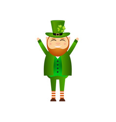 funny leprechaun for st patrick day vector image