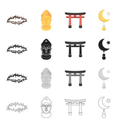 history attributes religion and other web icon vector image