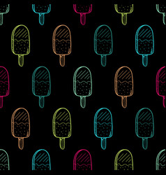 ice cream color pattern linear037 vector image