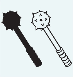 Iron mace vector image vector image