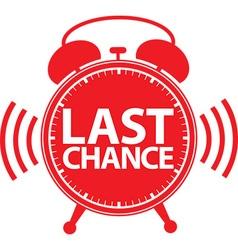 Last chance alarm clock icon vector