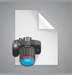 paper symbol camera vector image vector image
