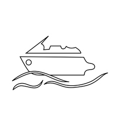 Powerboat icon in outline style vector image