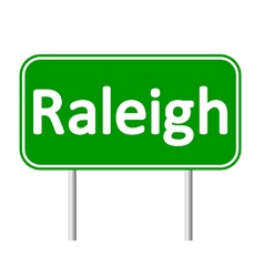 Raleigh green road sign vector